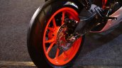 KTM RC390 rear disc brake at the Indian launch