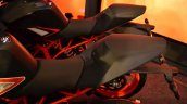 KTM RC390 seat full view at the Indian launch