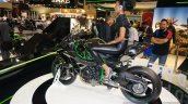 Kawasaki Ninja H2R rear three quarters 1 at INTERMOT 2014