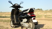 Mahindra Gusto review rear three quarter