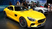 Mercedes AMG GT front three quarter at the 2014 Paris Motor Show