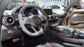Mercedes AMG GT full black interior at the 2014 Paris Motor Show