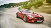 Mercedes AMG GT press image on the move