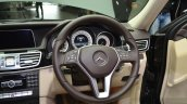 Mercedes E350 CDI launch steering wheel
