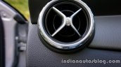Mercedes GLA aircon vent front on the review