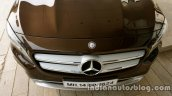 Mercedes GLA bonnet and grille on the review