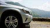 Mercedes GLA bumper on the review