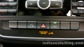 Mercedes GLA center console switches on the review