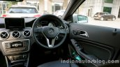 Mercedes GLA cockpit on the review