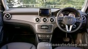 Mercedes GLA dashboard on the review