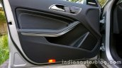 Mercedes GLA door trim on the review