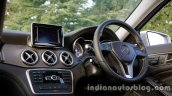 Mercedes GLA driver side dashboard on the review