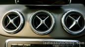Mercedes GLA front aircon vents on the review