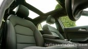 Mercedes GLA front seats and sunroof on the review