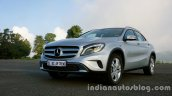 Mercedes GLA front three quarter on the review