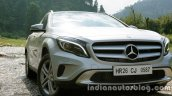 Mercedes GLA grille and headlight on the review