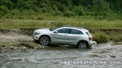 Mercedes GLA off-roading on the review