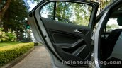 Mercedes GLA rear door on the review
