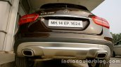 Mercedes GLA rear fascia on the review
