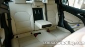Mercedes GLA rear seat on the review