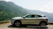 Mercedes GLA side view on the review