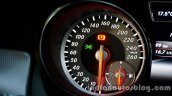 Mercedes GLA speedometer on the review