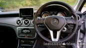 Mercedes GLA steering wheel and dashboard on the review
