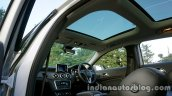 Mercedes GLA sunroof on the review