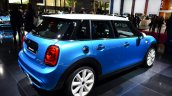 Mini 5 door rear three quarter angle at the 2014 Paris Motor Show