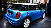 Mini 5 door rear three quarters at the 2014 Paris Motor Show