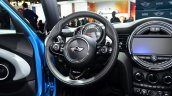 Mini 5 door steering wheel at the 2014 Paris Motor Show