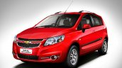New Chevrolet Sail hatchback front three quarters press image