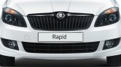 New Skoda Rapid front fascia studio shot