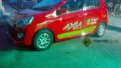 Perodua Axia spied in Malaysia Advance demo car side