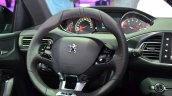 Peugeot 308 GT steering wheel at the 2014 Paris Motor Show