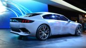 Peugeot Exalt Concept rear three quarters at the 2014 Paris Motor Show