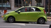 Proton Iriz driven by Dr. Mahathir Mohamad left side