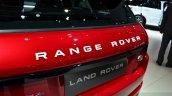 Range Rover Evoque SW1 tailgate at the 2014 Paris Motor Show