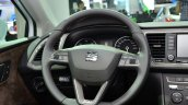 Seat Leon X-Perience steering wheel at the 2014 Paris Motor Show