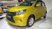 Suzuki Celerio front three quarters right at the Indonesia International Motor Show 2014
