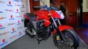 Suzuki Gixxer front three quarters left at the Indian launch
