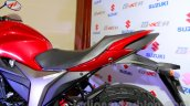Suzuki Gixxer seat at the Indian launch