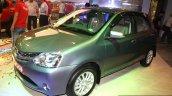 Toyota Etios Liva front three quarter at the 2014 Nepal Auto Show