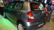 Toyota Etios Liva rear three quarter at the 2014 Nepal Auto Show