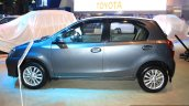 Toyota Etios Liva side at the 2014 Nepal Auto Show