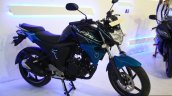 Yamaha FZ-S FI V2.0 front three quarter at the 2014 NADA Auto Show Nepal