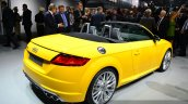 2015 Audi TTS Roadster rear quarter at the 2014 Paris Motor Show