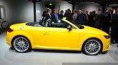 2015 Audi TTS Roadster side at the 2014 Paris Motor Show