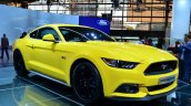 2015 Ford Mustang front three quarters at the 2014 Paris Motor Show