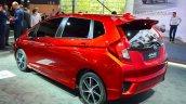2015 Honda Jazz prototype for Europe rear three quarter at 2014 Paris Motor Show
